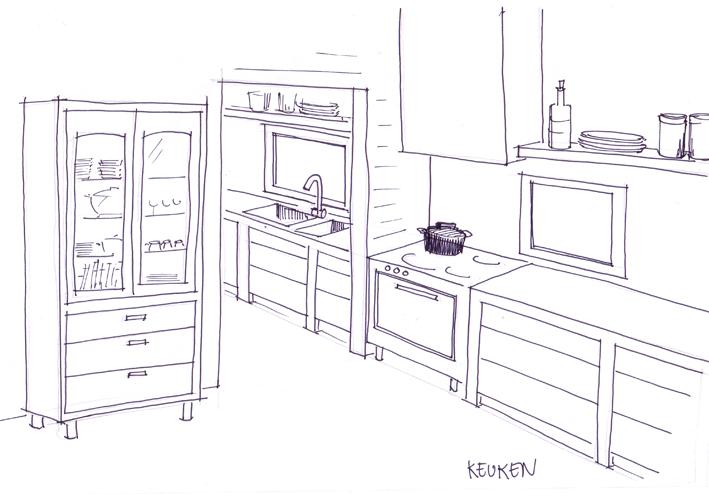 Schets keuken lisette schoenmaker for Inrichting tekenen
