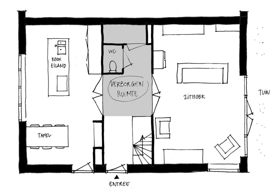 Meer ruimte zonder uitbouw lisette schoenmaker for Indeling woning